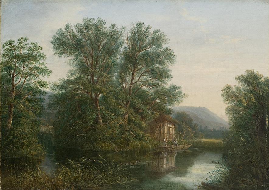 David Ortlieb, Le Stangenweyer près de Ribeauvillé, 1863