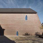 Vue de l'aile nouvelle dite Ackerhof, depuis le verger du musée. Musée Unterlinden, Photo : Peter Mikolas