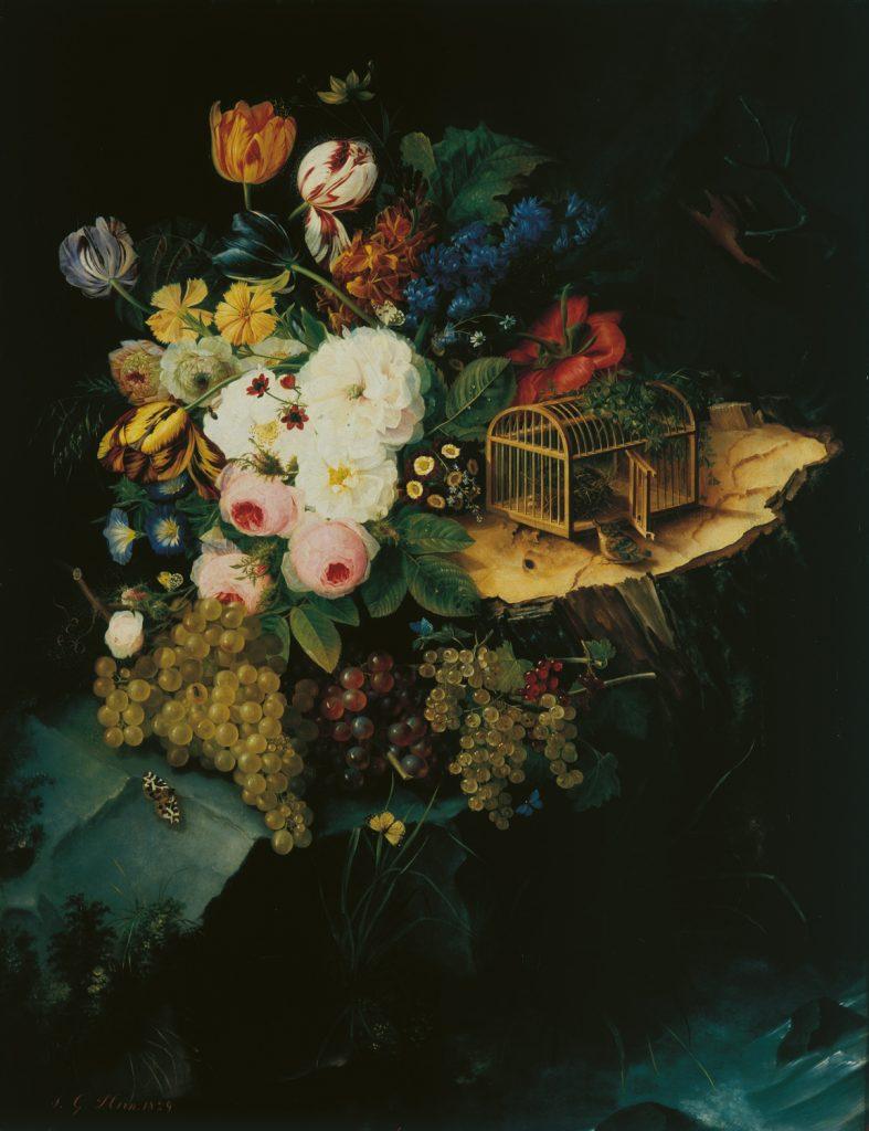 Jean-Georges Hirn, Nature morte à la cage aux oiseaux