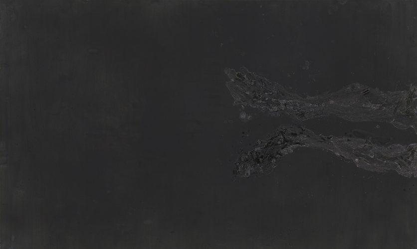 Di nuovo arrivato, 2015, huile sur toile, H. 180 x l. 300 cm © Georg Baselitz 2018 – Photo Jochen Littkemann, Berlin