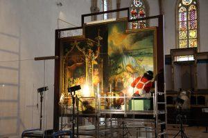 Restauration du Retable d'Issenheim - Intervention sur le panneau de la Nativité